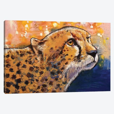 Cheetah Colors Canvas Print #MCR251} by Michael Creese Canvas Wall Art