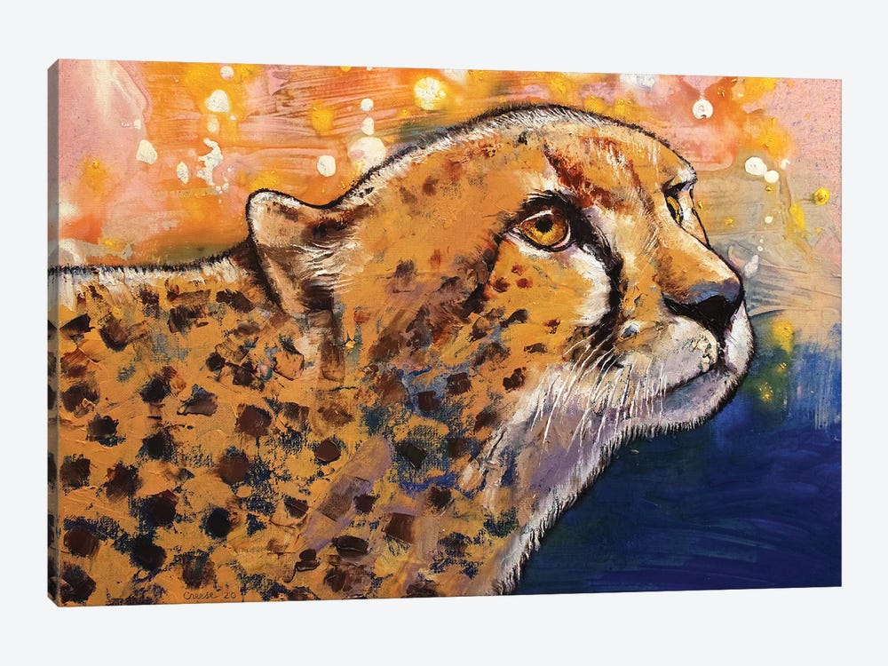 Cheetah Colors by Michael Creese 1-piece Canvas Art