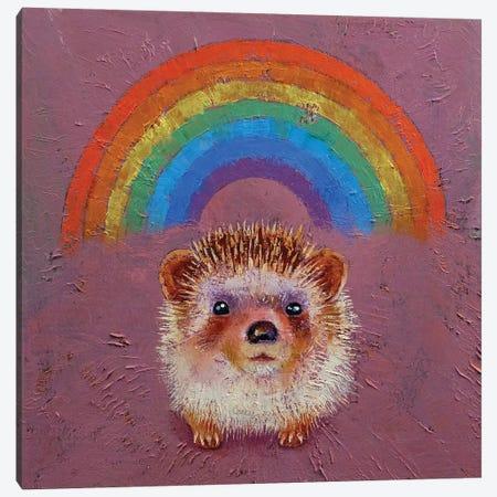 Hedgehog Rainbow Canvas Print #MCR253} by Michael Creese Canvas Artwork