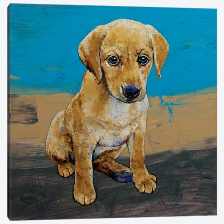 Yellow Lab Puppy Canvas Print #MCR254} by Michael Creese Canvas Art Print