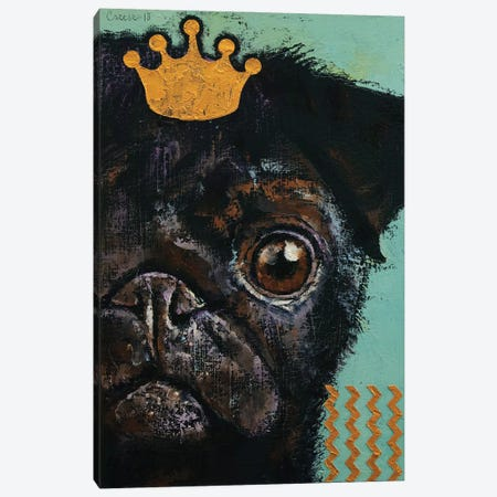 King Pug Canvas Print #MCR255} by Michael Creese Canvas Art Print