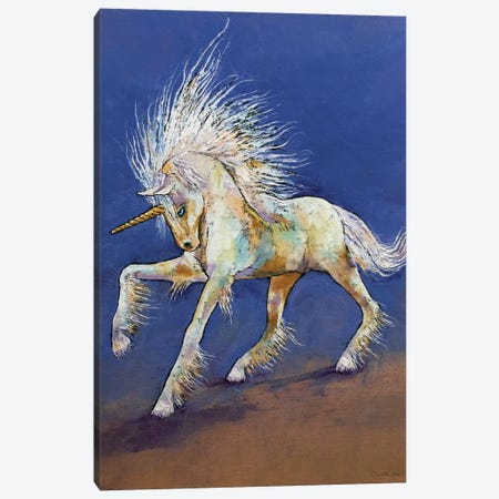 Baby Unicorn Canvas Print #MCR261} by Michael Creese Art Print