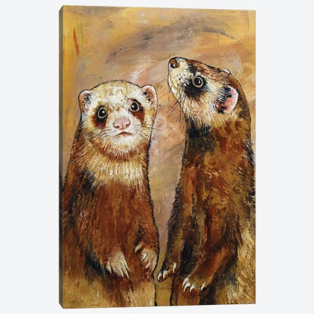 Ferrets Canvas Print #MCR264} by Michael Creese Canvas Art