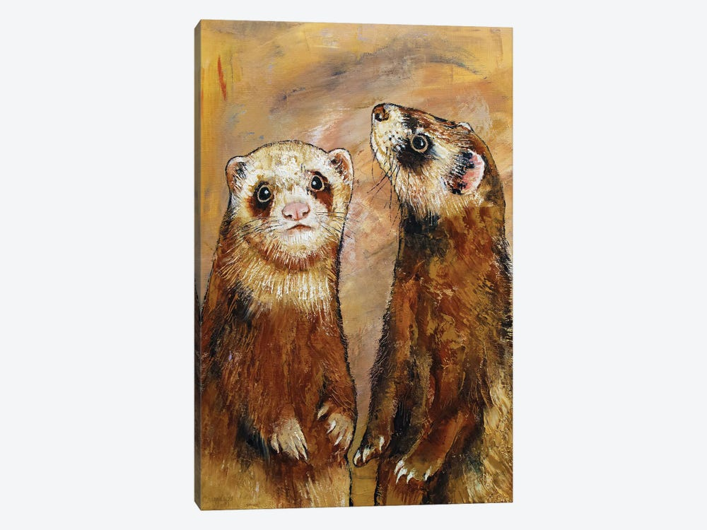 Ferrets by Michael Creese 1-piece Canvas Artwork
