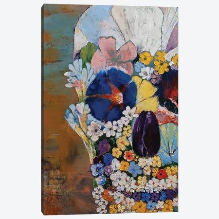 Flower Skull Canvas Print #MCR268} by Michael Creese Art Print