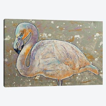 White Flamingo Canvas Print #MCR271} by Michael Creese Canvas Wall Art