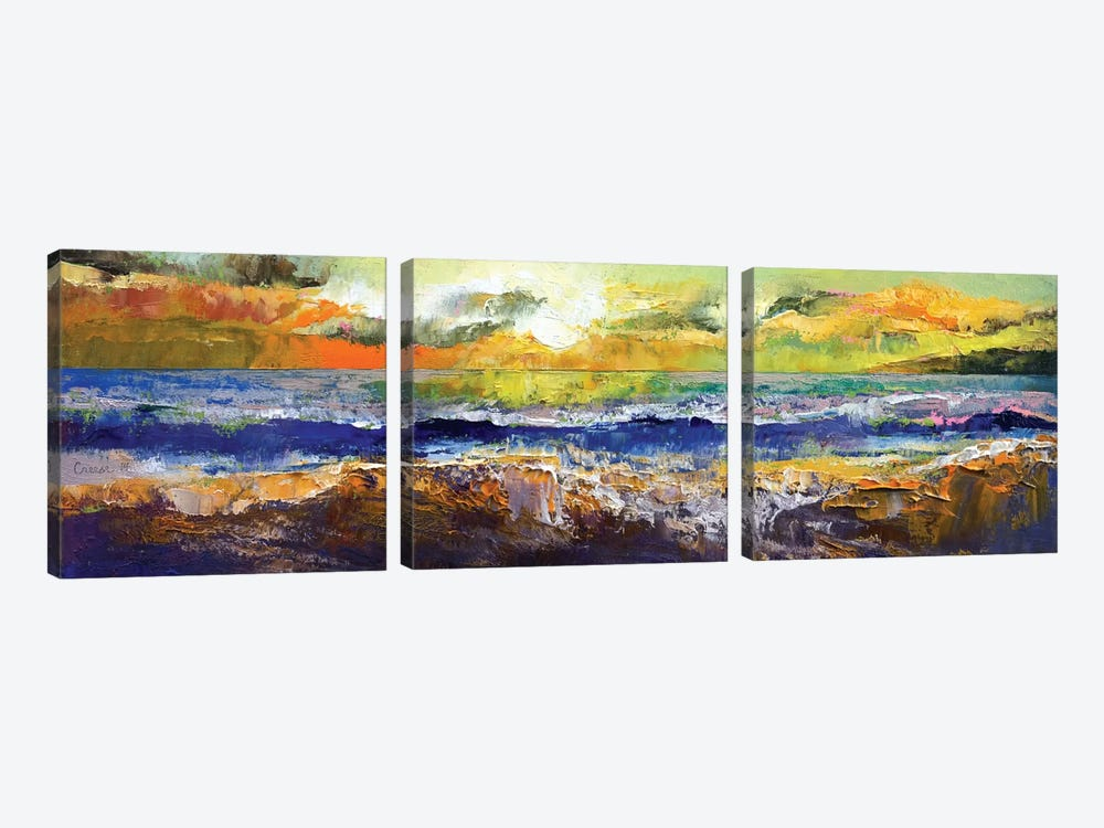 California Waves by Michael Creese 3-piece Canvas Art