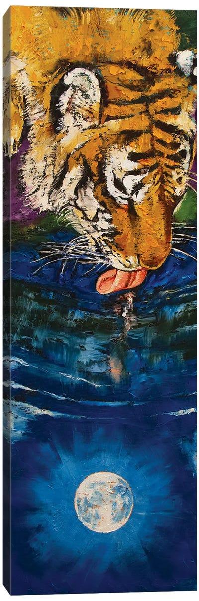 Tiger Moon Canvas Art Print