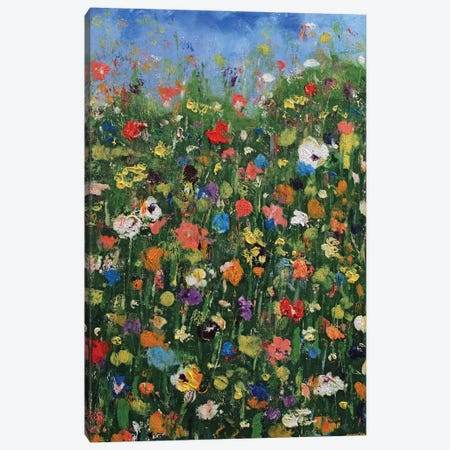 Abstract Wildflowers Canvas Print #MCR285} by Michael Creese Canvas Artwork