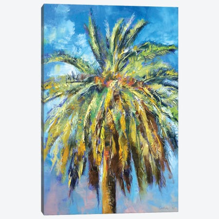Canary Island Date Palm Canvas Print #MCR28} by Michael Creese Canvas Wall Art