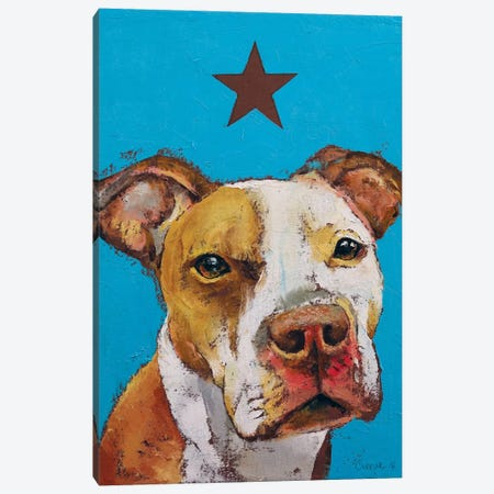 American Pit Bull Canvas Print #MCR2} by Michael Creese Canvas Wall Art