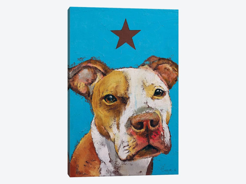 American Pit Bull by Michael Creese 1-piece Canvas Artwork