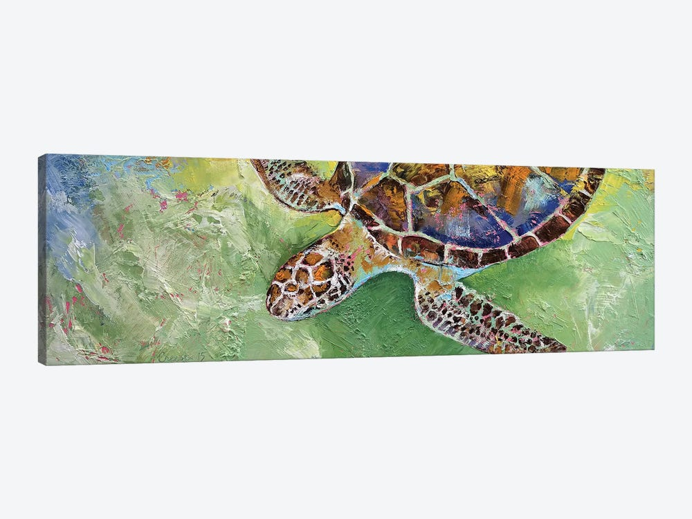 Caribbean Sea Turtle by Michael Creese 1-piece Canvas Wall Art