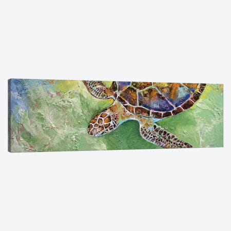 Caribbean Sea Turtle Canvas Print #MCR30} by Michael Creese Art Print