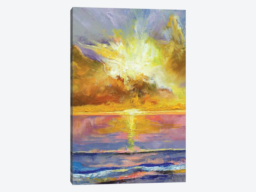 Caribbean Sunset by Michael Creese 1-piece Canvas Art Print