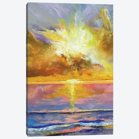 Caribbean Sunset Canvas Print #MCR31} by Michael Creese Canvas Print