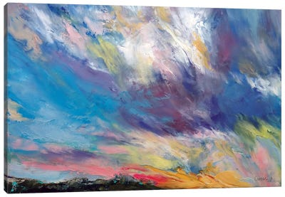 Clouds At Sunset Canvas Art Print