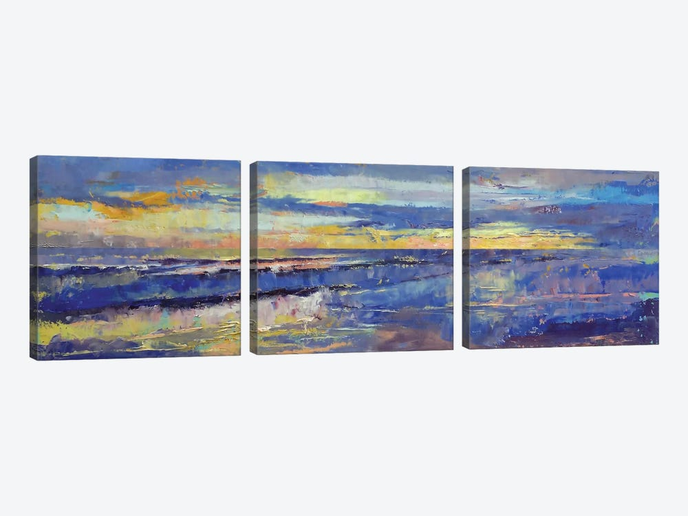 Costa Rican Sunset by Michael Creese 3-piece Canvas Print