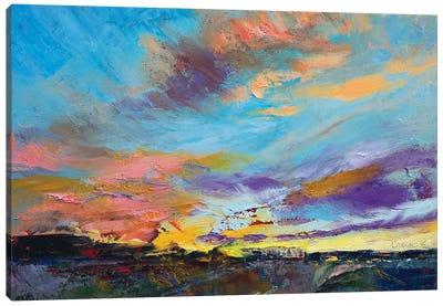 Desert Highway Canvas Art Print