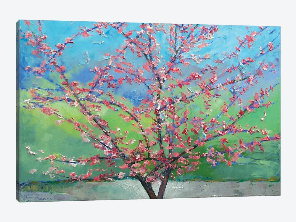 Eastern Redbud Tree by Michael Creese 1-piece Art Print