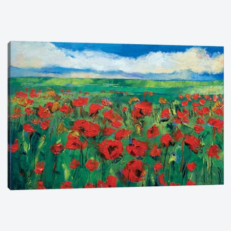 Field Of Red Poppies Canvas Print #MCR43} by Michael Creese Canvas Art