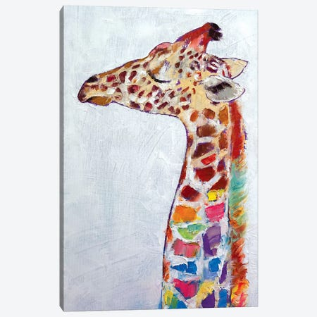 Giraffe Canvas Print #MCR46} by Michael Creese Canvas Print