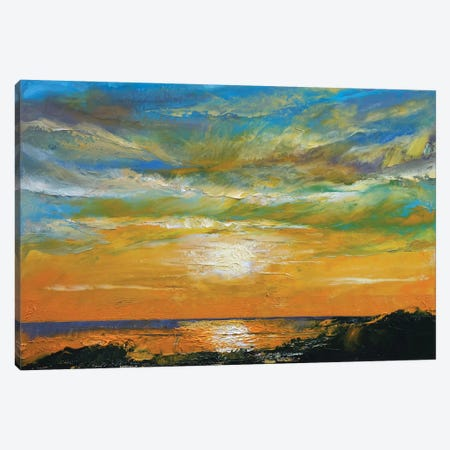 Hawaiian Sunset Canvas Print #MCR50} by Michael Creese Art Print