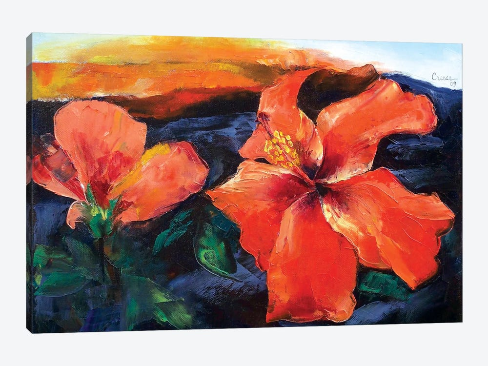 Hibiscus Volcano by Michael Creese 1-piece Art Print