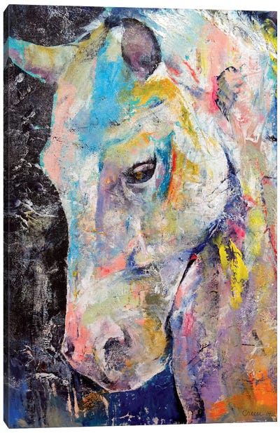 Hidden Heart Horse Canvas Art Print