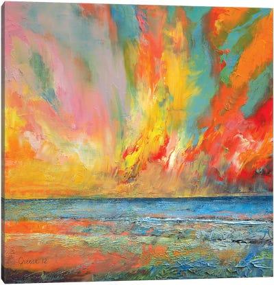 Hidden Heart Lava Sky Canvas Art Print