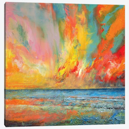 Hidden Heart Lava Sky Canvas Print #MCR53} by Michael Creese Canvas Print