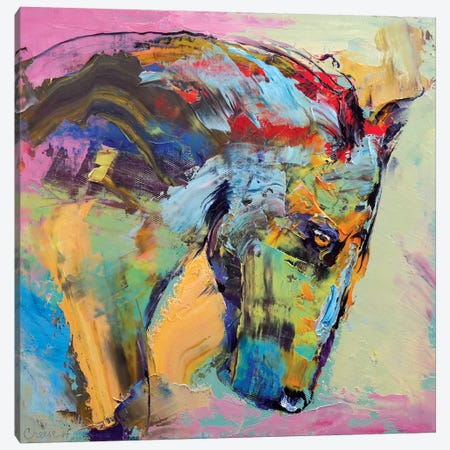 Horse Study Canvas Print #MCR56} by Michael Creese Canvas Artwork