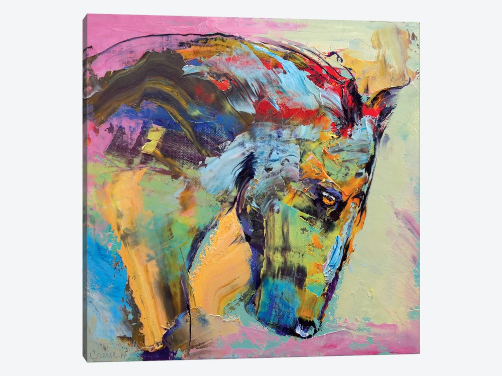 Horse Study by Michael Creese 1-piece Canvas Wall Art