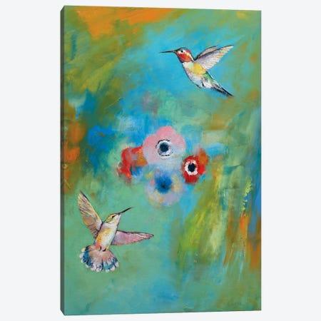 Hummingbirds Canvas Print #MCR57} by Michael Creese Canvas Art
