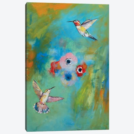 Hummingbirds Canvas Print #MCR57} by Michael Creese Canvas Art