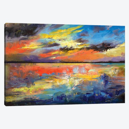 Key West Florida Sunset Canvas Print #MCR63} by Michael Creese Canvas Art