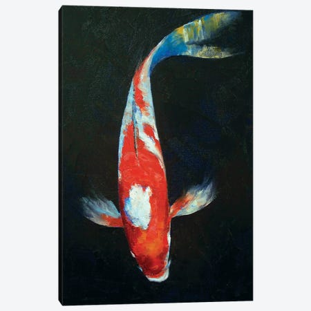 Koi Canvas Print #MCR66} by Michael Creese Canvas Print