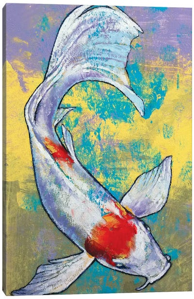 Koi Fish Canvas Print #MCR70
