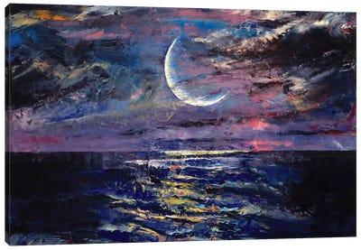 Moon Canvas Print #MCR76
