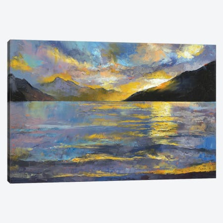 New Zealand Sunset Canvas Print #MCR80} by Michael Creese Canvas Artwork