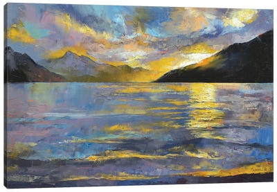 New Zealand Sunset Canvas Art Print