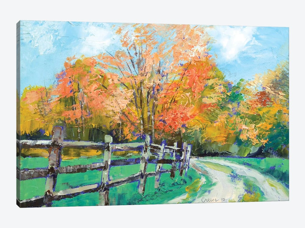 Old Country Road by Michael Creese 1-piece Canvas Wall Art
