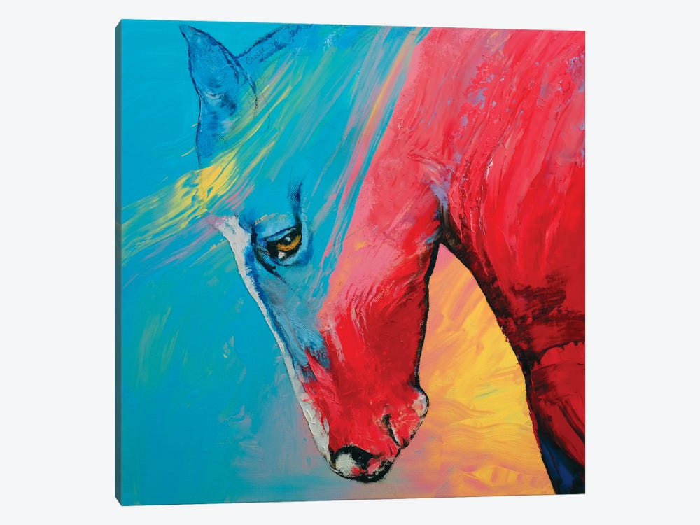 Painted Horse 1-piece Canvas Wall Art