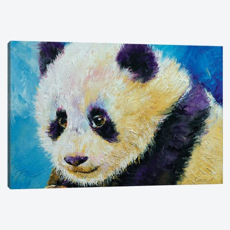 Panda Cub Canvas Print #MCR88} by Michael Creese Canvas Artwork