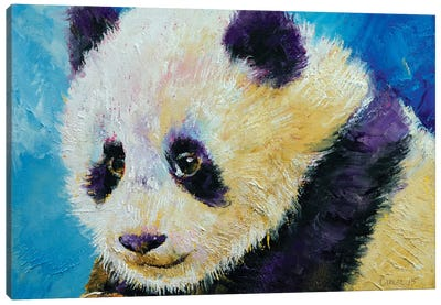 Panda Cub Canvas Art Print