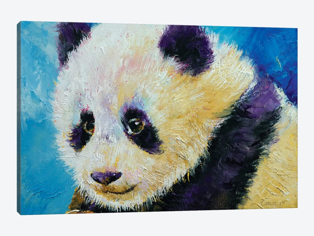 Panda Cub 1-piece Canvas Print