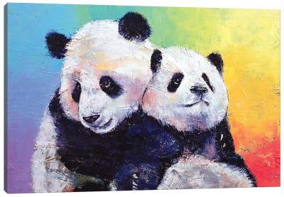 Panda Hugs Canvas Print #MCR89