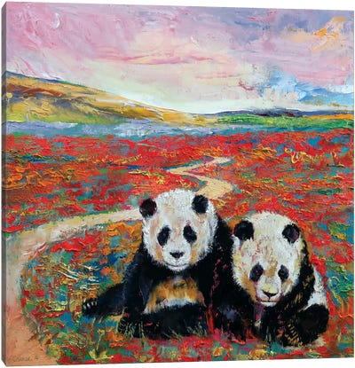 Panda Paradise Canvas Art Print