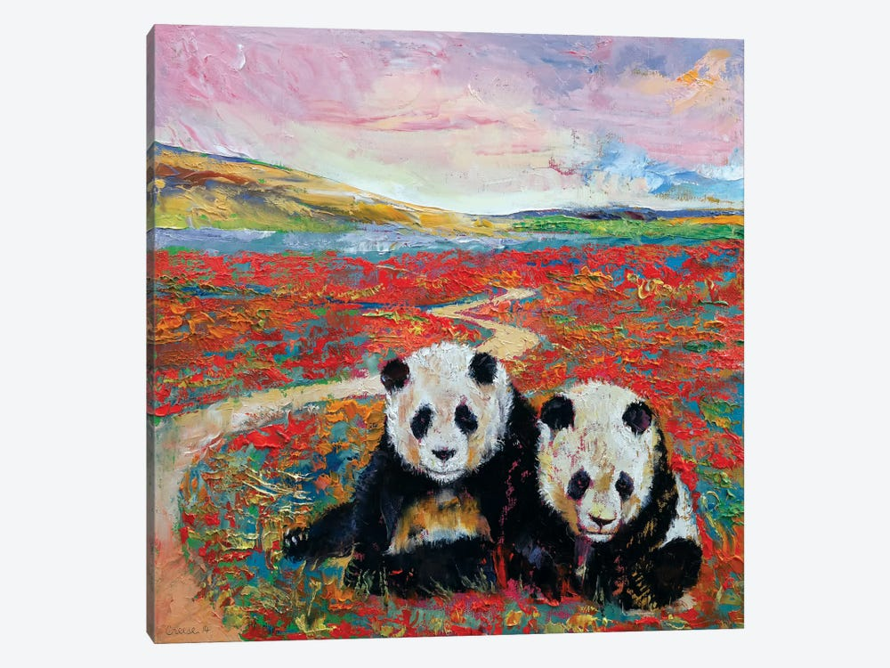 Panda Paradise by Michael Creese 1-piece Canvas Wall Art