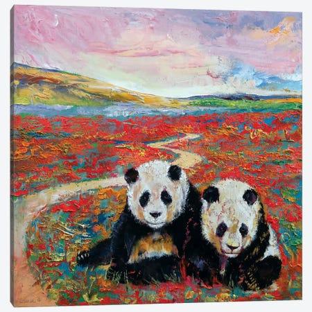 Panda Paradise 3-Piece Canvas #MCR90} by Michael Creese Canvas Print